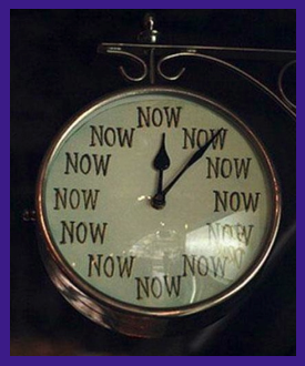 The Time is Right Now Clock